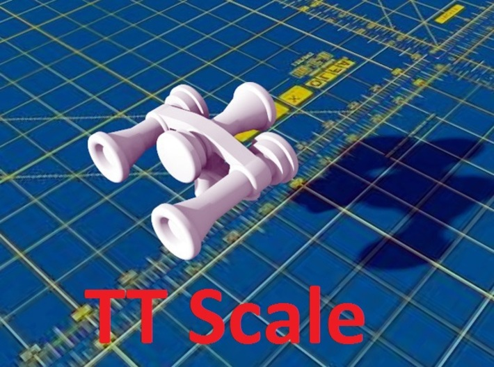 Locomotive 3 Chime Horns Type 3-3 TT Scale 3d printed