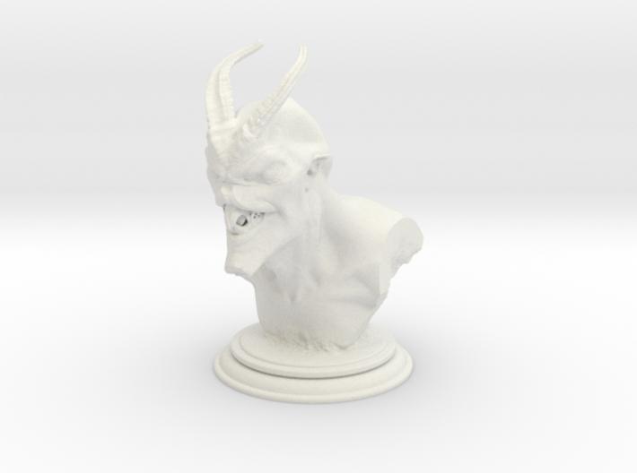 Demon head bust 01 3d printed