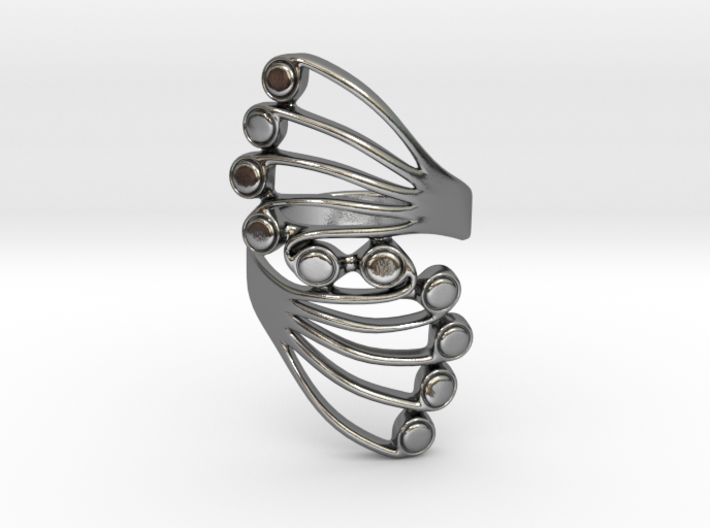 Butterfly Wing Ring Size 9 3d printed