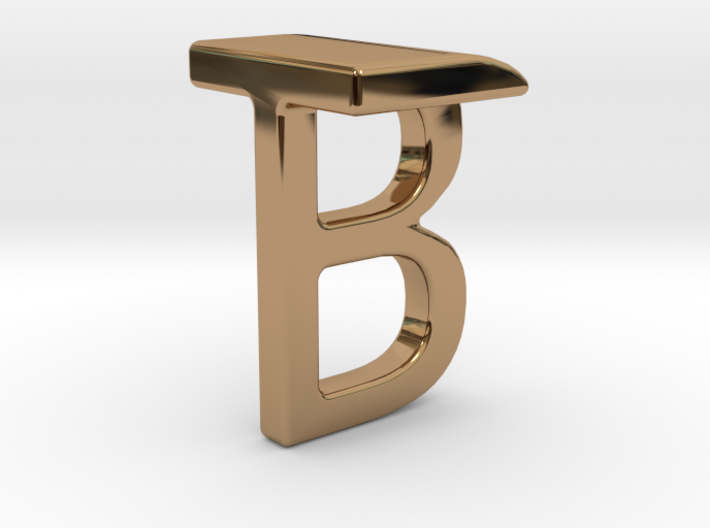Two way letter pendant - BT TB 3d printed