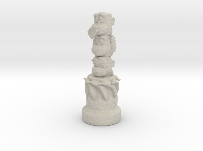 Three Wise Monkeys Totem 3d printed