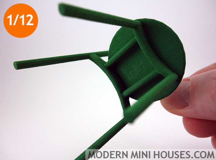 Solo Modern Designer Chair 1:12 scale 3d printed
