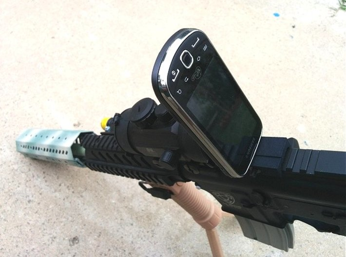 Camera Phone Picatinny Mount 3d printed