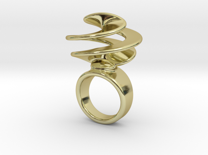 Twisted Ring 29 - Italian Size 29 3d printed
