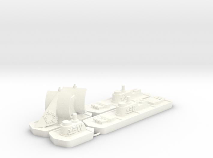 Military & Sailing ships (4 pcs) 3d printed