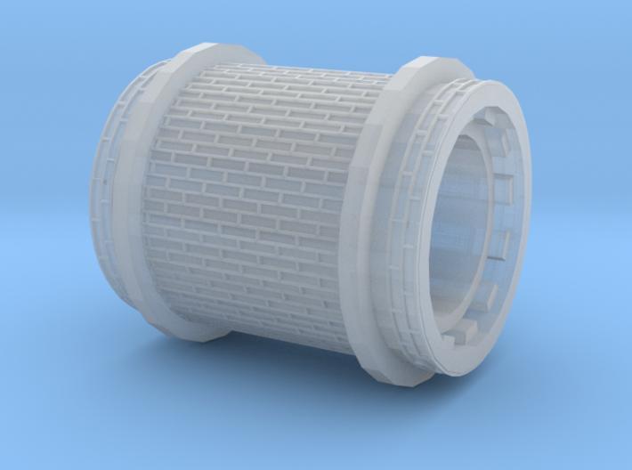 Brick paving with border (H0) 3d printed