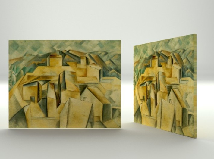 Houses on the hill (Picasso) 3d printed