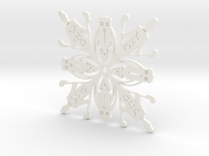 Doctor Who: Eleventh Doctor Snowflake 3d printed