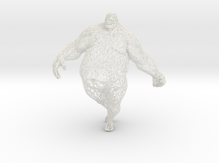 Fat man in 20cm 3d printed
