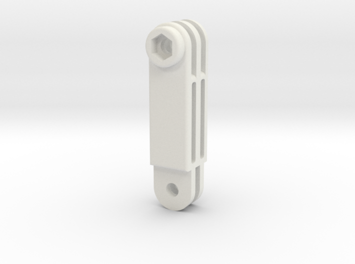 GoPro simple connector straight L 3d printed
