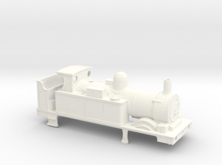 GWR 517 Body - Open Cab Round Firebox 3d printed