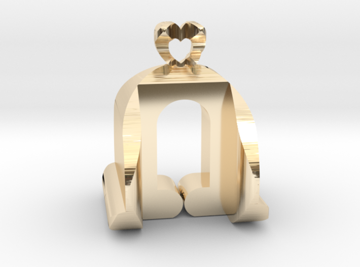 I♥U Shape 2 - View 3 3d printed