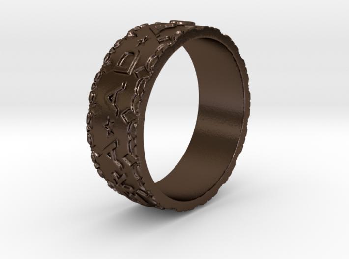 Per aspera ad astra Ring Size 11.5 3d printed