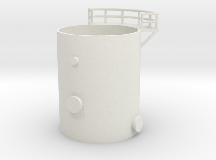 'N Scale' - Distillation Tower - Bottom Section 3d printed