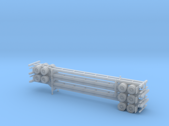 N 53' Container Chassis Stack #2 3d printed
