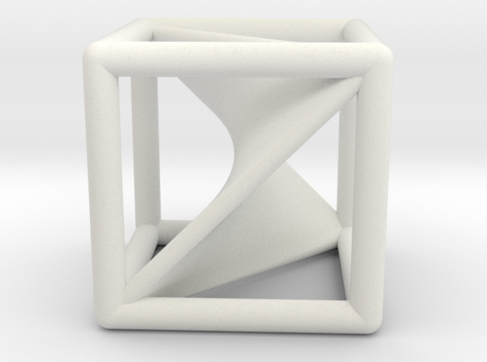 Segre embedding in a cube (XXL). 3d printed