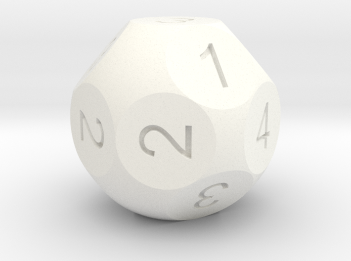 D16 Sphere Dice numbered as 4D2 3d printed