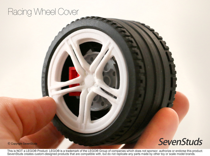 Racing Wheel Cover 01_56mm 3d printed
