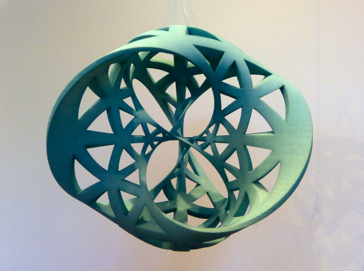 Seifert surface for (3,3) torus link 3d printed Dyed with RIT dye.