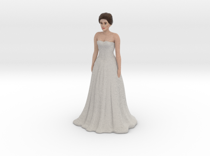 Light Brunette Bride (v.1) 3d printed
