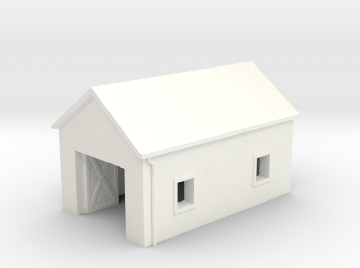 Large N Scale Single Car Garage 3d printed