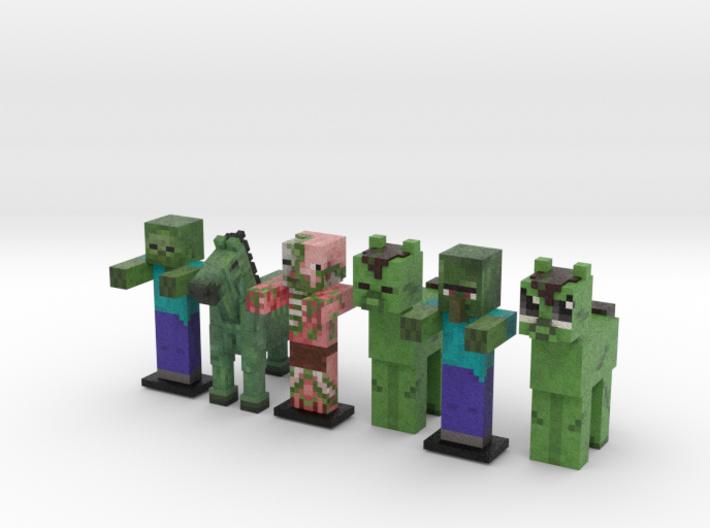 Zombie Horde 3d printed