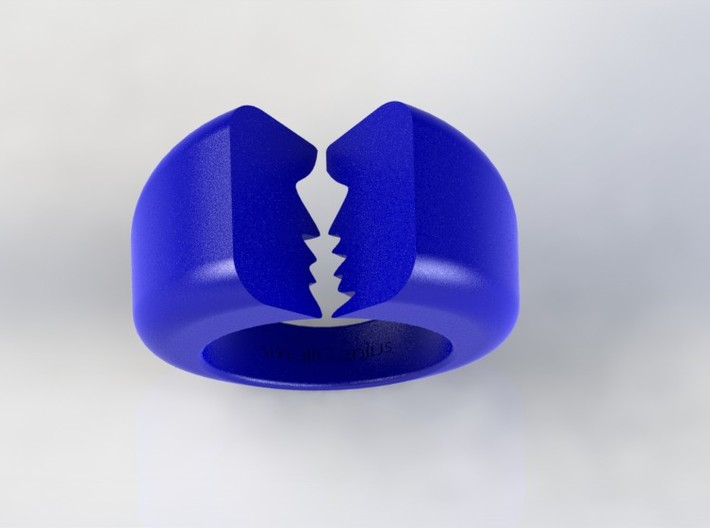 Lovers Ring 03 D19.8mm Size 10 3d printed