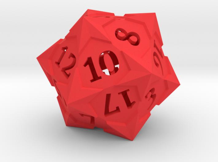 'Starry' D20 Balanced Gaming Die 3d printed