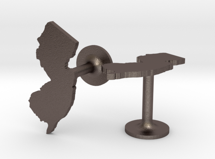 New Jersey State Cufflinks 3d printed