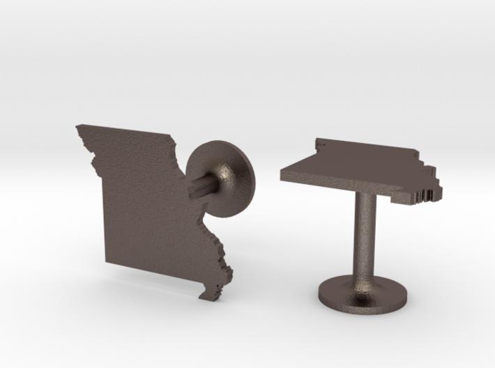 Missouri State Cufflinks 3d printed