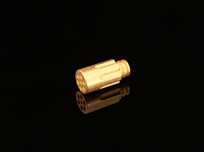 Revolver Chamber Driptip: Stainless Steel 3d printed