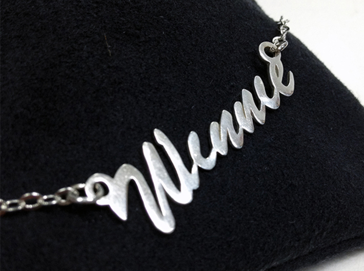 Name Necklace Pendant - Winnie 3d printed