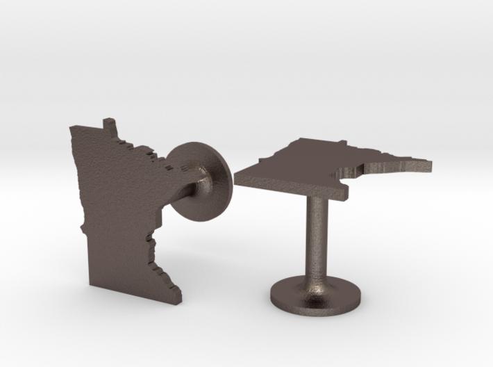 Minnesota State Cufflinks 3d printed