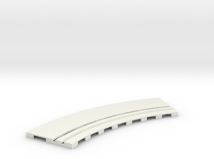 P-65stp-curve-tram-road-inner-145r-75-pl-1a 3d printed