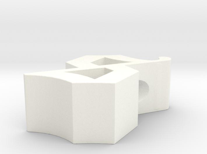 S pendant 3d printed