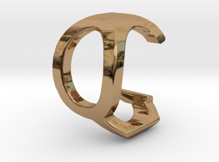 Two way letter pendant - CQ QC 3d printed