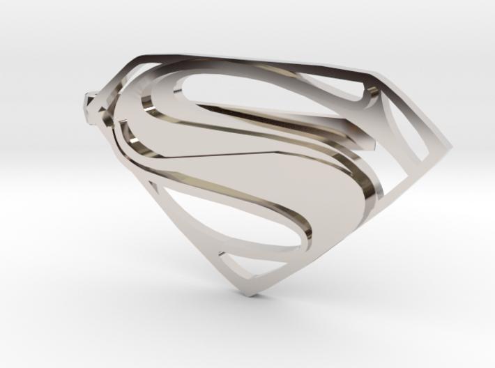 Man of Steel Tie Clip 3d printed