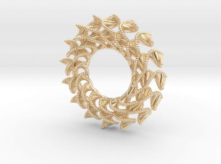 DNA Flower 16-Petal Pendant 3d printed