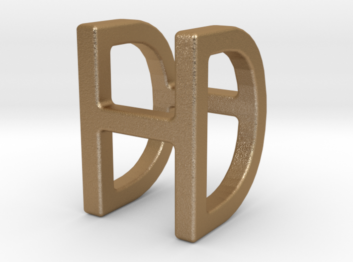 Two way letter pendant - DH HD 3d printed