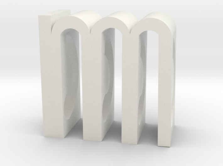M Object-Poem Small 3d printed