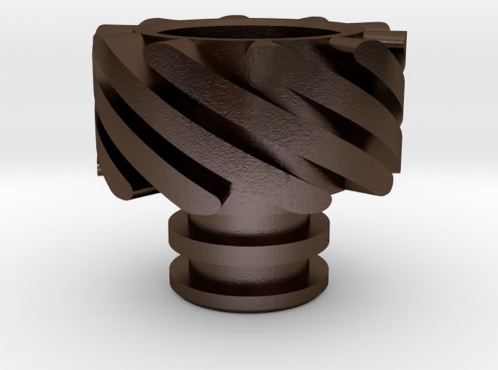 Turbo Driptip Heat Sink: Stainless Steel 3d printed