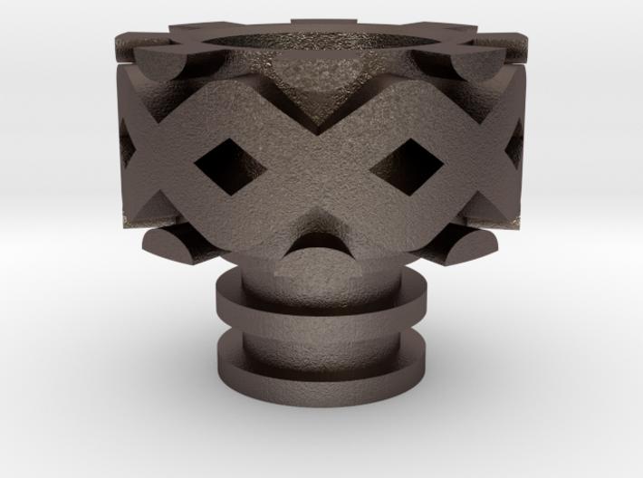 DNA Driptip Heat Sink: Stainless Steel 3d printed