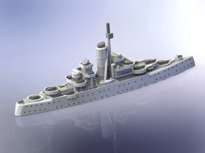 German AA-Cruiser Niobe 1/1800 3d printed