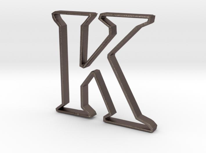 Typography Pendant K 3d printed