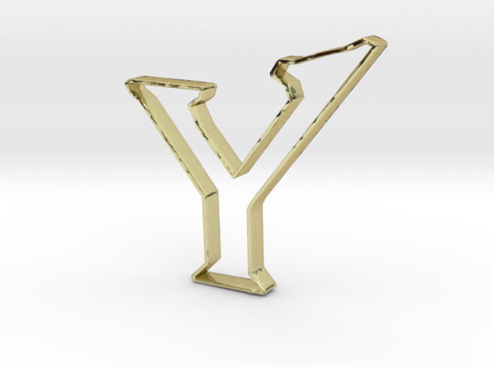 Typography Pendant Y 3d printed