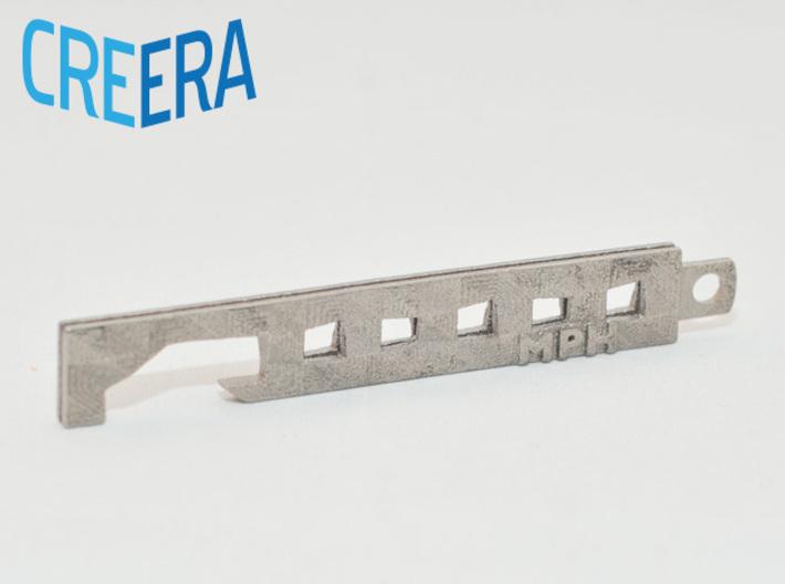 Custom Modern Bottle Opener 3d printed Polished Nickel Steel