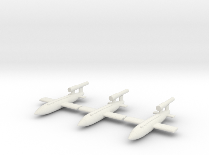 V1 Buzz Bomb 144th Scale - 3 Pack 3d printed