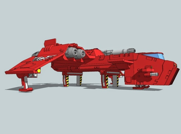 6mm ThunderSquak Transporter Dropship 3d printed