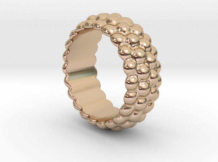 Big Bubble Ring 28 - Italian Size 28 3d printed