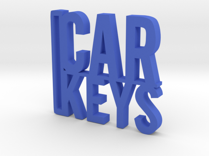 Car Keys Keychain 3d printed